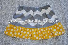 Wholesale Kids Girl Chevron Petti Skirt Baby Summer Grey Chevron Skirt Children Fancy Cotton Skirt New Design Chevron Skirt