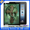 newest product professional factory supply 3D protective case for ipad,good quality cover for TPU case in guangzhou