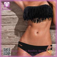 Wholesale Hot Girls Elegant Black Sexy Net Bikini Sets