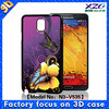 Note 3 Free sample fantastic with 3d image cheap case for phone
