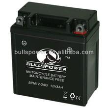 sealed maintenance free motorcycle battery voltage 12v 3ah