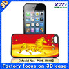 Cheap popular with 3D flash image case for iphone 5C case