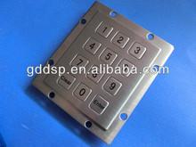 Ip 65 stainless steel numeric 3x4 metal keypad