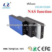 usb 3.0 network attached storage, external portable usb nas enclosure, 2.5/3.5 usb lan network storage box