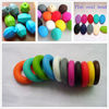 Fashion FDA Approved Loose Chew Beads For Jewelry Baby Chew Soft BPA Free Silicone Teething Beads Wholesale