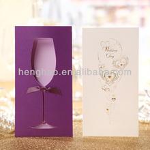 Wedding card high end special&creative pink luxury pocket invitation card