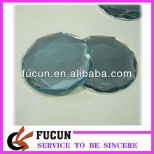 large round flat back acrylic