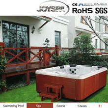 Swim spa hydro massage long size hot tub wooden bathtub