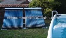 Split heat pipe solar collector system Swimming pool heat pipe solar collectors