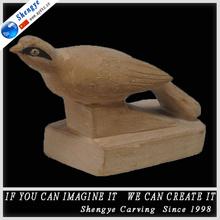 Indoor decorative hand carved marble bird statue