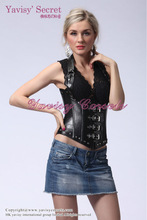 women busty corset lingerie and black leather corset bodysuit
