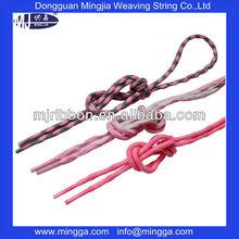 fancy design combination color 6mm wave elastic shoelace,children's shoelace