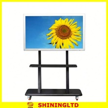 65inch portable lcd multi touch screen tv with built in pc mobile stand