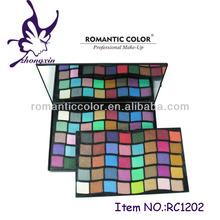 Hot Sale Plastic Case 80 color Eye Shadow Palette Leather Make Up KIT