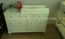 baby changing table /children dresser/7 drawer