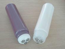 Direct supply triple roller ball applicator tube,roll on tube, stainless steel roller tube
