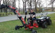 EU style 9hp engine power hydraulic atv/quad/utv/buggy backhoe/excavator/digger/dig trencher/loader CE