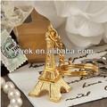 2014 de nouveaux produits! Tour eiffel en or de la chaîne principale pour la fête de mariage. Cadeaux de mariage