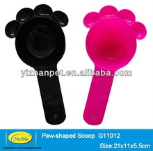 high quality plastic pet food scoop with clip