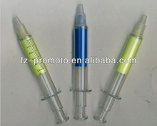 plastic needle shape ball point pens for promotional gifts with cheap price
