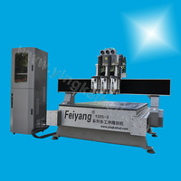 Multi-head cylinder hot-sale cnc wood engraving machine FY1325-5 with low price
