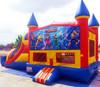 spiderman war inflatable bouncy castle slide (Immanuel)