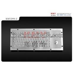 Kiosk Industrial metal Keyboard with trackball, IP65