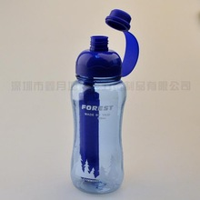 CVS Manufacture! 2014 New Production! Eco-friendly Popular Plastic Water Bottle With Ice Bar BPA Free