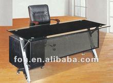 Modern glass top office table design(FOHYTJ-8059)