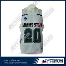 Mesh fabric sublimation basketball uniform for club