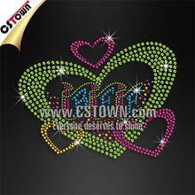 Iron on transfers custom best friend forever heart bling motif