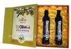 rigid hard cardboard olive oil box for green two bottle