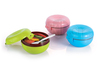 plastic round double layer lunch box