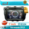 Car Audio Player For Kia Sorento 2013 with Autoradio GPS Navigation 3G DTV DVD GPS BT Phonebook Virtual 6-CD hot selling