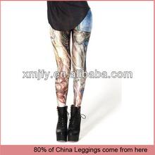 Wholesale women digital printed pants black milk FIRE HORSE LEGGINGS
