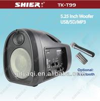 SHIER TK-T99 pro mini fm radio usb sd card reader active line array speaker