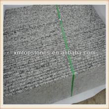 spray white granite round edge for stair slab