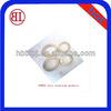 Aluminium Flat O-Ring Round Gasket (three holes)