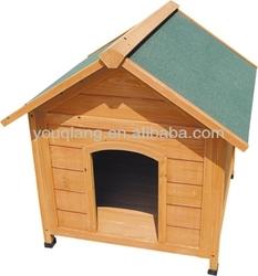 Asphalt roof wooden dog kennel with adjustable feet
