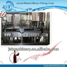 Glass bottled grape wine processing filler 3 in 1