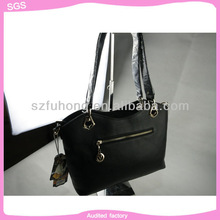 Lady shoulder genuine leather hand bags