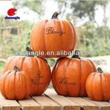 Outdoor decorating pumpkins, fake pumpkin decoration