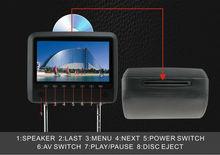 Car HD Headrest DVD Player With Pillow