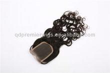 Free Shipping Lace Closure Brazilian Virgin Hair Wave 3.5x4 Way Part free Part Bleached Knots Top Closure