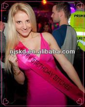 fashion satin printed pageant customize sash for celebration-001
