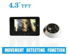 """4.3"""" Movement detecting,video peephole,video peephole door camera,wireless digital door viewer"""