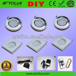 Factory 12V Round Kitchen Above Cabinet Shelf Accent Professional Lighting Kit manufacturer