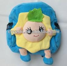 kid bag/kids school plush bag/soft animal backpag toy