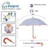 plain painting fabric umbrella crook handle for kids