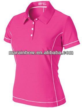 Custom Design Ladies 39 Dry Fit Golf Shirts Hot Sale Lady